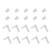 10 Conectores L + 10 Arroelas De Silicone P/ Bulk Ink