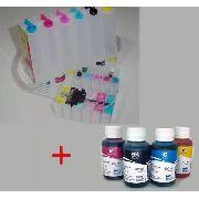 Bulk Ink Epson R200 R220 R300 + 6 Frascos De Tinta
