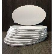 100 Azulejos Brancos Oval Resinado Para Sublimação Mecolour
