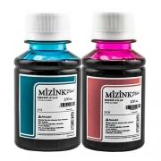 2x 100 Ml - Tinta Corante Mizink Epson Light Cyan e Light Magenta - EMU08P