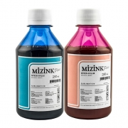 2x 250 Ml Tinta Sublimática Mizink Epson Light Cyan E Light Magenta
