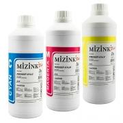 3 Frascos De 1 Litro - Tinta Mizink Compatível Com Hp
