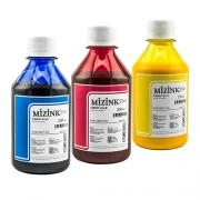 3 Frascos De 250 Ml De Kit Tinta Sublimática Mizink Original