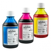 3 Frascos De 250 Ml - Tinta Corante Mizink Para Canon - CO26P