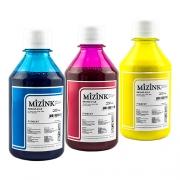 3 Frascos de 250ml - Tinta Mizink Pigmentada Compatível Com Hp 940 E 951