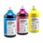 3 Frascos de 500ml - Tinta Mizink Pigmentada Compatível Com Hp 940 E 951