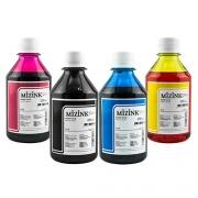 4 Frascos De 250 Ml - Tinta Corante Mizink Para Canon - CO26P