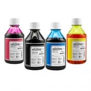 4 Frascos De 250 Ml - Tinta Corante Mizink Para HP - HM951/HM088P