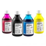 4 Frascos de 250ml - Tinta Mizink Pigmentada Compatível Com Hp 940 E 951