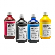 4 Frascos De 500 Ml De Kit Tinta Sublimática Mizink Original