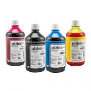 4 Frascos De 500 Ml - Tinta Corante Mizink Epson - EMU08P
