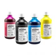 4 Frascos de 500ml - Tinta Mizink Pigmentada Compatível Com Hp 940 E 951