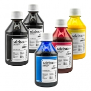 5 Frascos De 250 Ml De Kit Tinta Sublimática Mizink Original