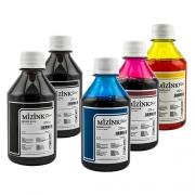 5 Frascos De 250 Ml - Tinta Corante Mizink Epson - EMU08P