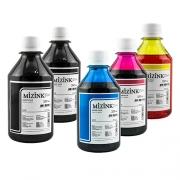 5 Frascos De 250 Ml - Tinta Corante Mizink Para Canon - CO26P