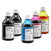 5 Frascos De 250 Ml - Tinta Corante Mizink Para HP - HM951/HM088P