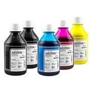 5 Frascos de 250ml - Tinta Mizink Pigmentada Compatível Com Hp 940 E 951