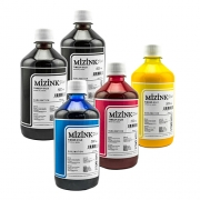 5 Frascos De 500 Ml De Kit Tinta Sublimática Mizink Original