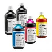 5 Frascos De 500 Ml - Tinta Corante Mizink Para HP - HM951/HM088P