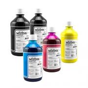 5 Frascos de 500ml - Tinta Mizink Pigmentada Compatível Com Hp 940 E 951
