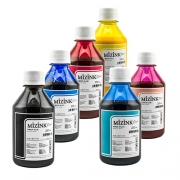 6 Frascos De 250 Ml De Kit Tinta Sublimática Mizink Original