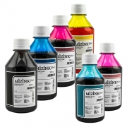 6 Frascos De 250 Ml - Tinta Corante Mizink Epson - EMU08P
