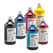 6 Frascos De 500 Ml De Kit Tinta Sublimática Mizink Original