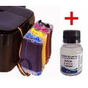 Bulk Ink Epson Tx125 Tx135 T25 Tx133 + Kit Limpeza Com Tinta