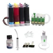 Bulk Ink Compatível Epson Tx550 Tx600 T40w + Tinta Pigmentada Mizink