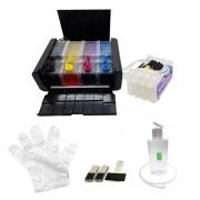 Bulk Ink P/ Epson Wf2650 Wf2651 + Desbloqueio + 400 Ml Tinta