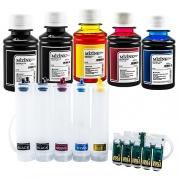 Bulk Ink Para Epson C110 + 5 Frascos De Tinta + Brinde