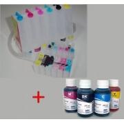 Bulk Ink Para Epson R200 R220 R300 + 6 Frascos De Tinta