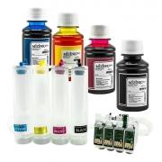 Bulk Ink Para Epson Tx200 Tx220 Tx400 + 4 Frascos De Tinta