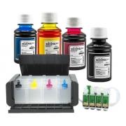 Bulk Ink Para Epson Tx420 Tx235 Tx320f Luxo+4 Frascos De Tinta