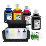 Bulk Ink Para Epson Xp214 Xp401 Xp204 Luxo+ 4 Frascos De Tinta