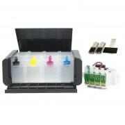 Bulk Ink Para Epson Xp214 Xp401 Xp204 + Tipo Luxo - Kit Técnico