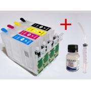 Cartucho Recarregável Epson Xp 214 401 204+ Tinta Pigmentada