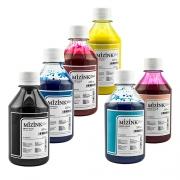 Kit - 6 frascos de 250ml - Tinta Pigmentada Mizink Epson EM35P