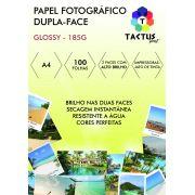 Papel Foto Dupla Face Brilho 185g Prova Dágua  100 Folhas A4