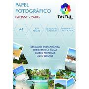 Papel Fotográfico 260g Hy glossy Prova Dágua 200 Folhas A4