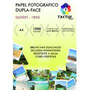 Papel Fotográfico Dupla Face 185g Prova Dágua 1000 Folhas A4