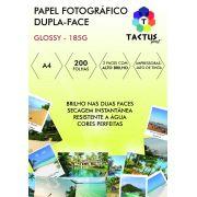 Papel Fotográfico Dupla Face 185g Prova Dágua  200 Folhas A4