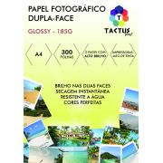 Papel Fotográfico Dupla Face 185g Prova Dágua  300 Folhas A4