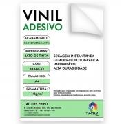 Vinil Adesivo Jato De Tinta Glossy 110g 10 Fls A4 - Branco