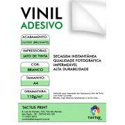 Vinil Adesivo Jato De Tinta Glossy 110g 25 Fls A4 - Branco