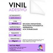 Vinil Adesivo Jato De Tinta Glossy 90g 10 Folhas A4 - Branco