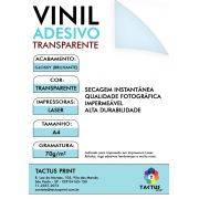 Vinil Adesivo Para Laser 70g - 1000 fls A4 - Transparente