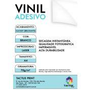 Vinil Adesivo para Laser - Glossy  70g - 10 fls A4 - Branco