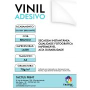 Vinil Adesivo Para Laser - Glossy  70g - 500 fls A4 - Branco