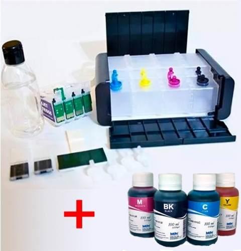 Bulk Ink Para Epson Tx620 Tx560 T42w Luxo+ 4 Frascos De Tinta